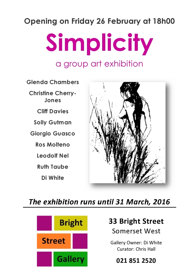 Simplicity Exhibition Bright Street Gallery