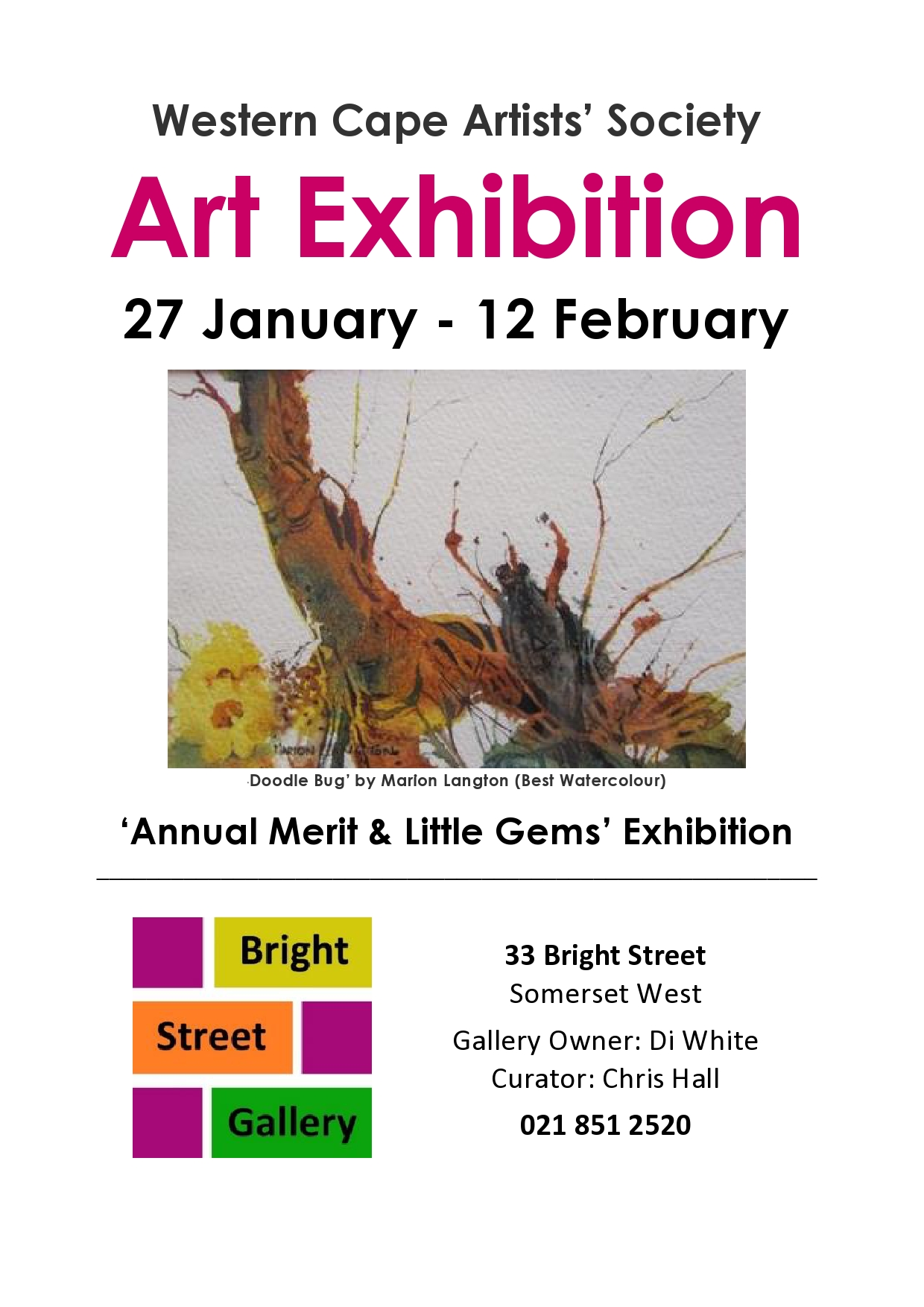 WCAS Art Exhibition - Bright Street Gallery