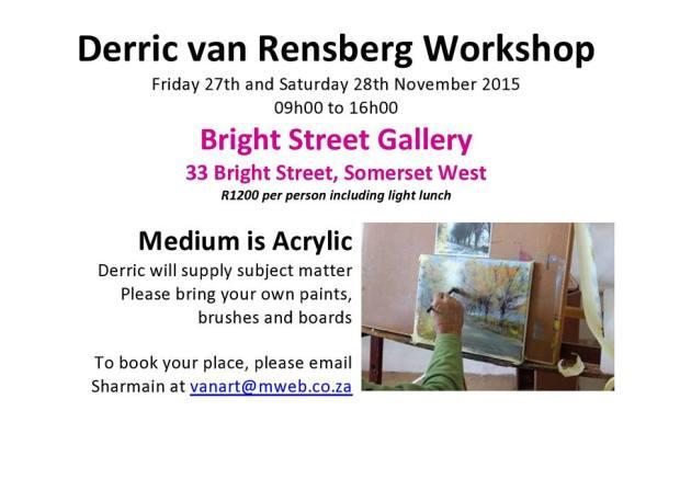 Derric van Rensburg workshop
