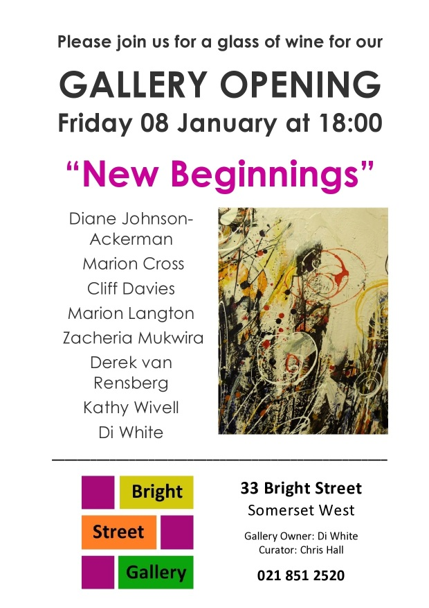 New Beginnings Exhibition 08 January 2015