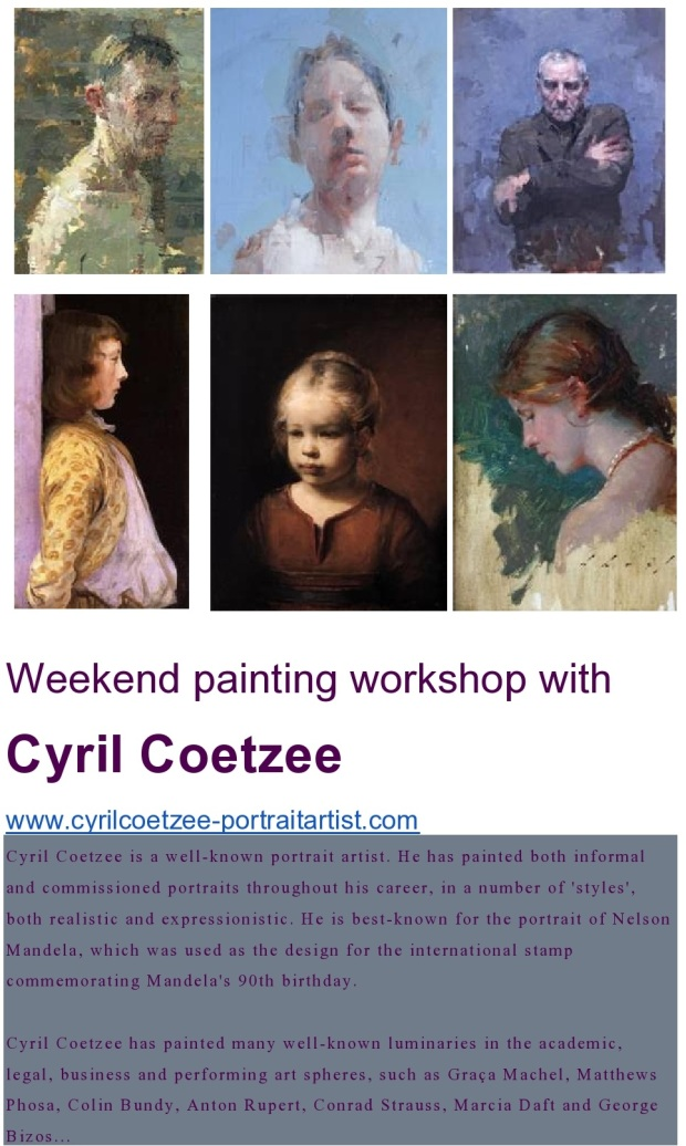 Cyril Coetzee portrait painting 13-14 August