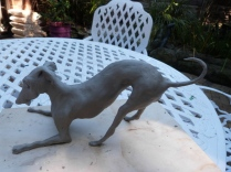 Italian Greyhound Sculpture by Di White