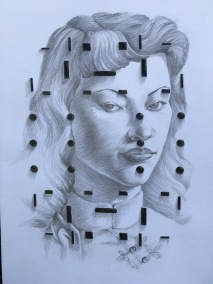 """China matrix/homage"" - Mike Chisin, Graphite on Paper, R 7 500, 00"