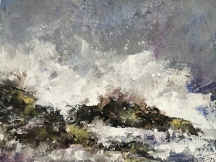 """""""On the Rocks"""" by Diane White, Acrylic on canvas, R3500,00"""