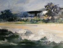 """West Coast"" by Diane White Acrylic on canvas, 300x1000mm, R5500"