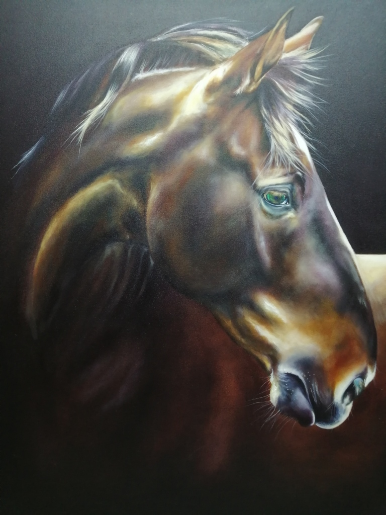 """""""Reggie"""" by Clea Witte, Oil on canvas, 900x1200mm, R7700.00"""