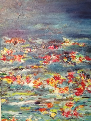 """Sense of Spring I"" By Anja Appy, mixed media on canvas R1200"