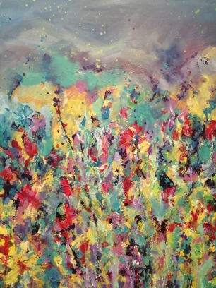 """Sense of Spring II"" By Anja Appy, mixed media on canvas R1200"