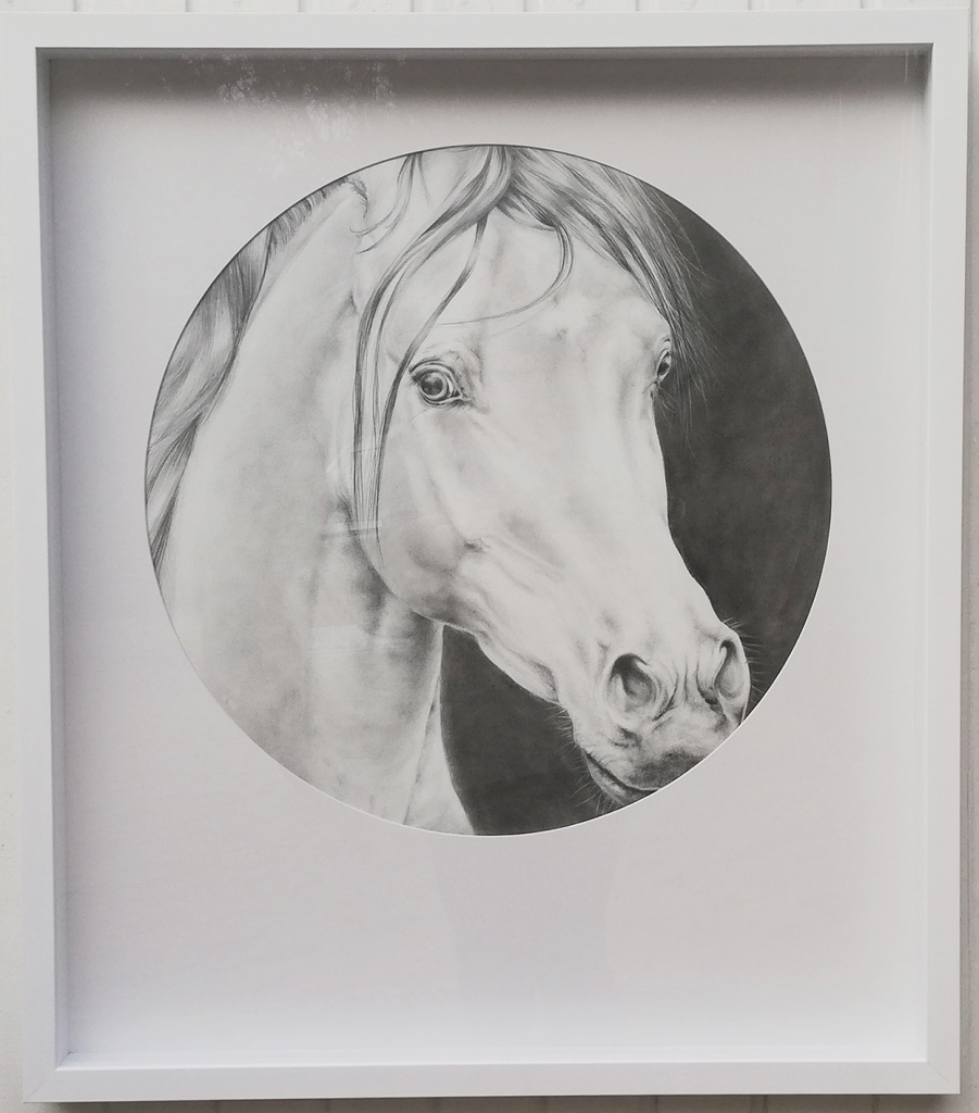 """""""Khafee Kharamel"""" by Clea Witte, Boxed framed: 70cm x 80cm, Pencil on paper, R4500.00"""""""