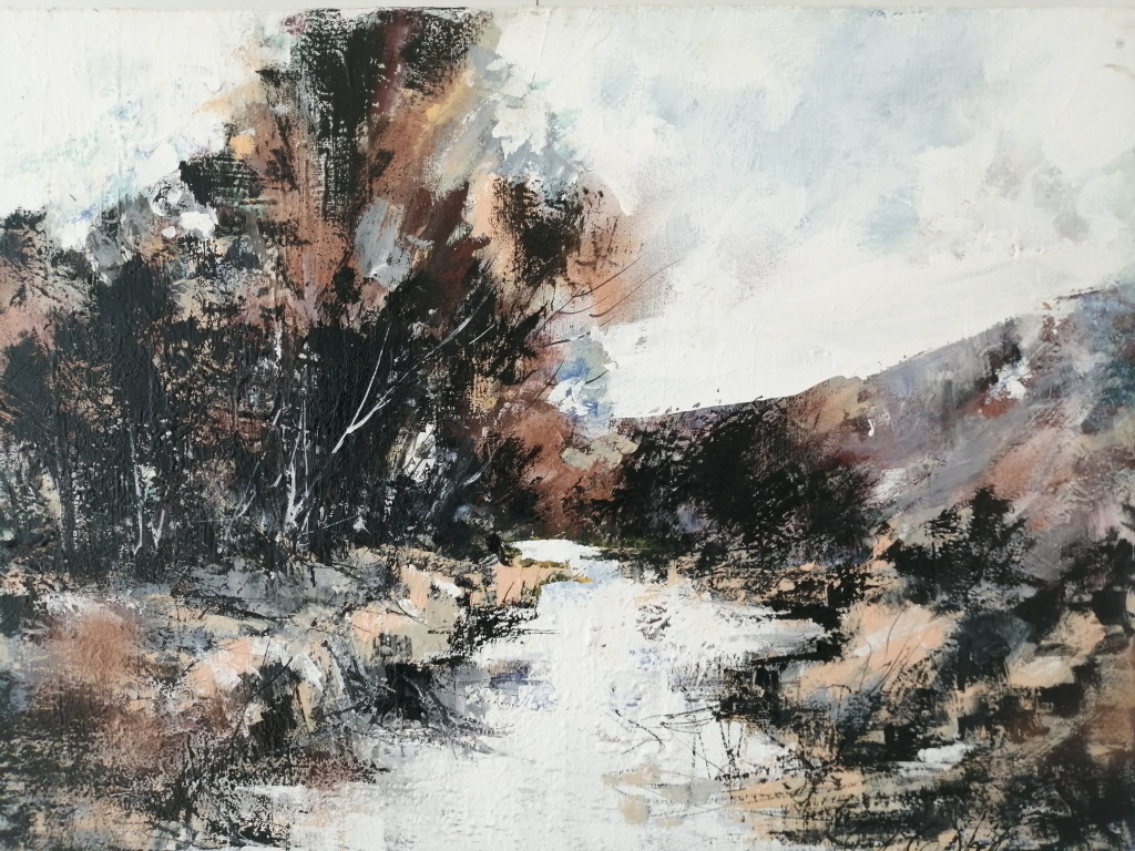 """""""Berg River II"""" by Diane White, Acrylic on canvas, R16 000.00"""