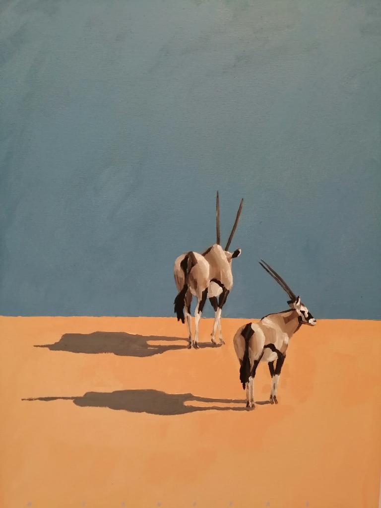 """Gemsbok II"" by Mark Sanders,  Oil on canvas, 840x600mm, R3990"