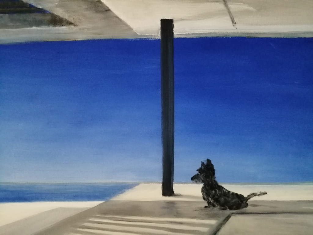 """""""Less is more"""" By Michelle Oosthuizen Oil on canvas, 410x310mm R1360.00"""