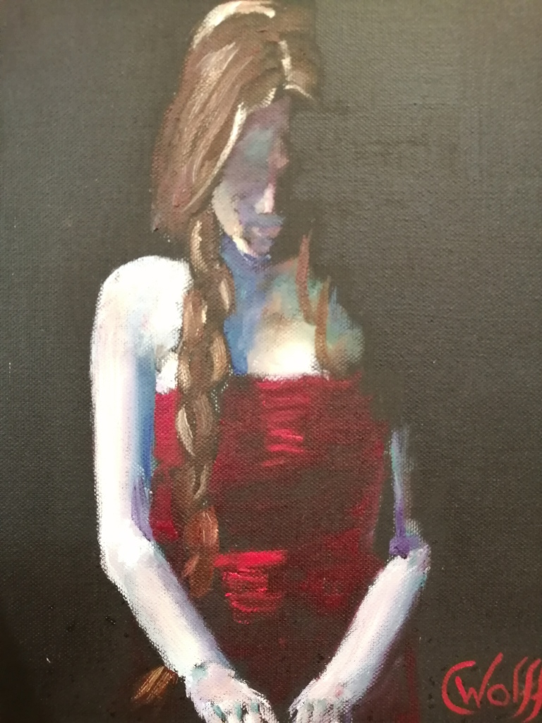 """""""Red"""" by Cornelie Wolff, Oil on canvas, 230x305mm, R905.00"""