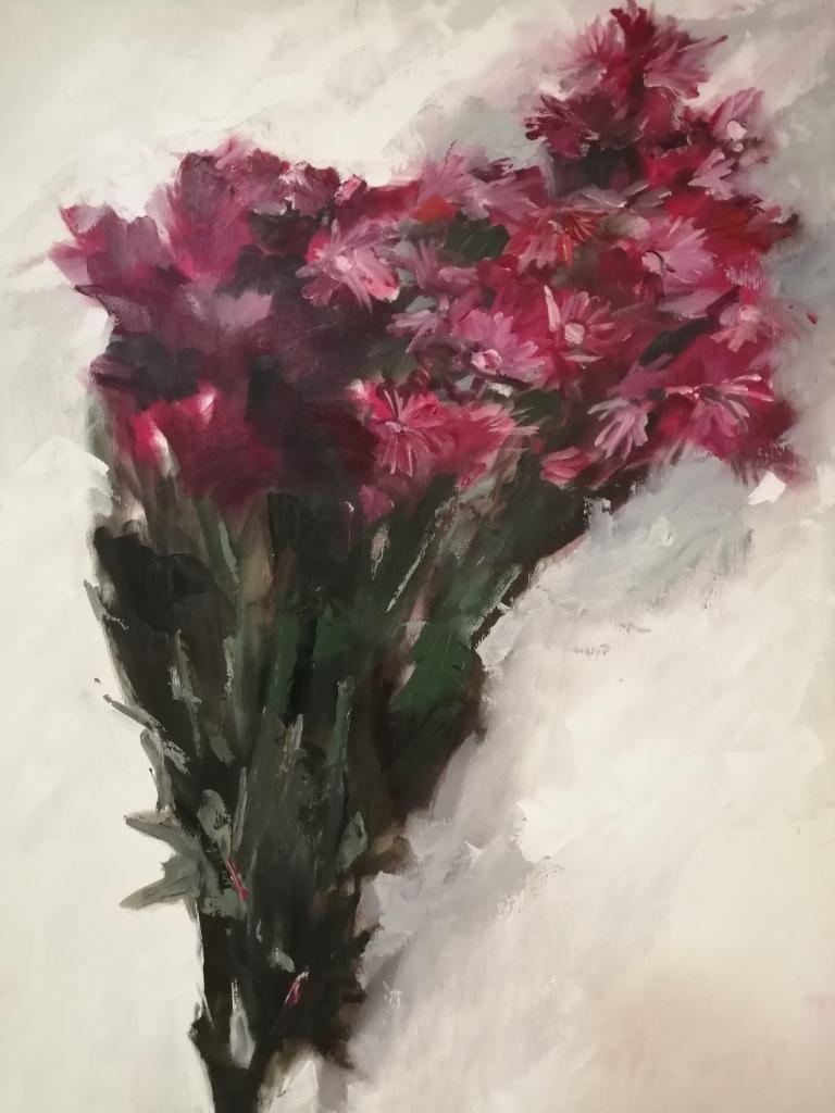 """""""Sewejaartjies"""" by Melinda Brummer, Oil on board, R2130"""