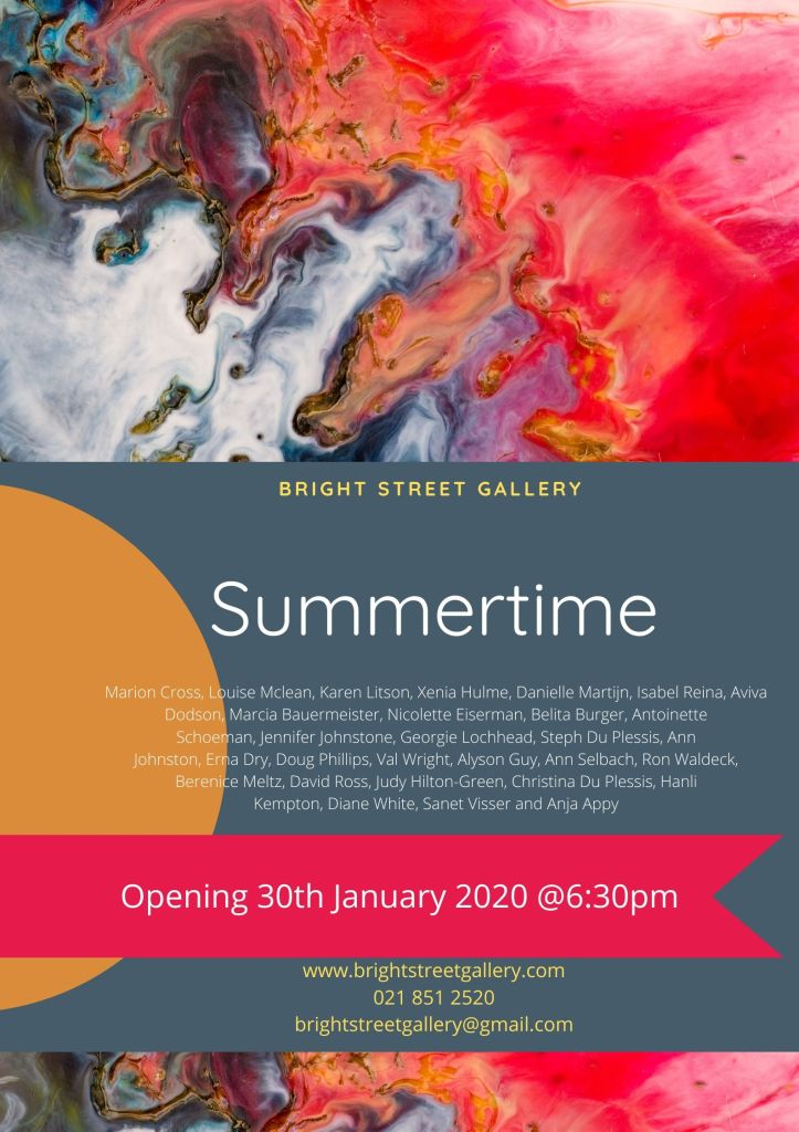 Join us for the Opening of the Summertime Group Exhibition on Thursday 30th January 2020!
