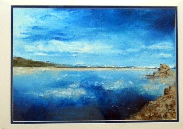 """tranquil sea"" by Val Wright"